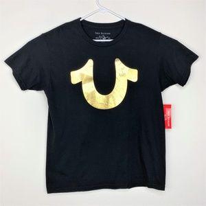 True Religion Men's Metallic Foil Horseshoe TShirt